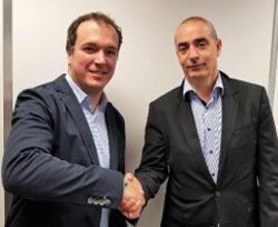 Fabien Garcia, Regional Sales Director for France and Morocco at Cambium Networks, with Zouhir EL KAMEL, CEO of Config