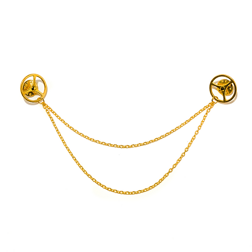 Gold Clockwork Collar Tips