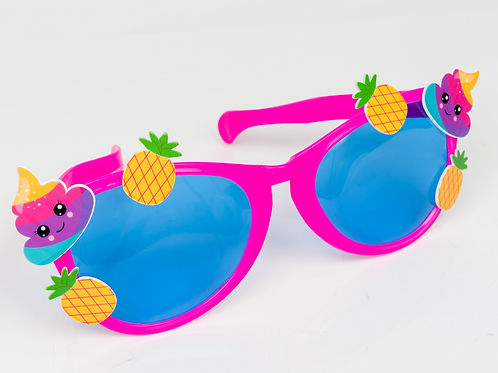 Giant Pink Funky Town Party Glasses