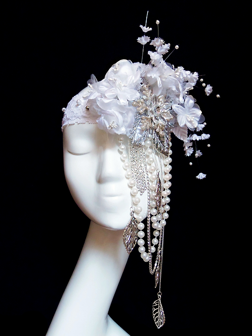 SNOWS FLOWER - Charleston Bridal Headband