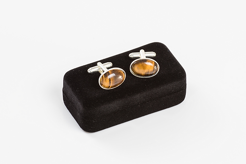 TIGER EYE - Gemstone Cufflinks