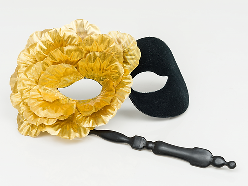 Olenna - Metallic Petal Stick Mask