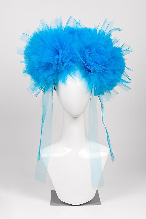 Priscilla - Tulle Pompom Headpiece