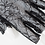 Thumbnail: Black Fingerless Floral Lace Gloves