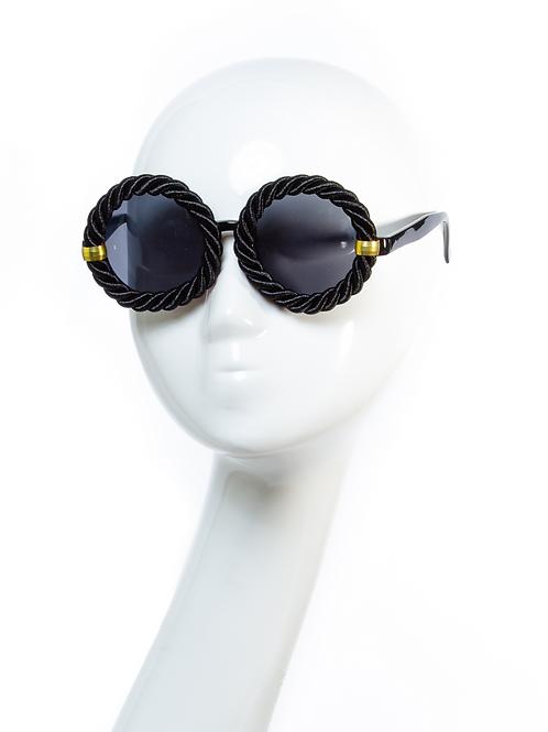 ROPE SHADES - Fashion Sunglasses - Black/Natural