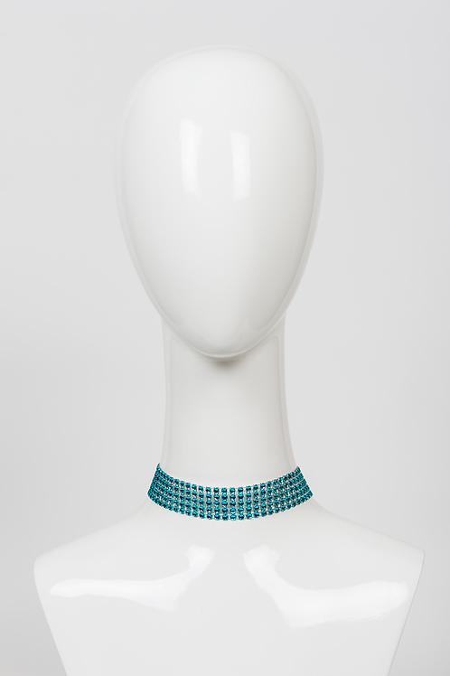Turquoise Choker Mesh Necklace