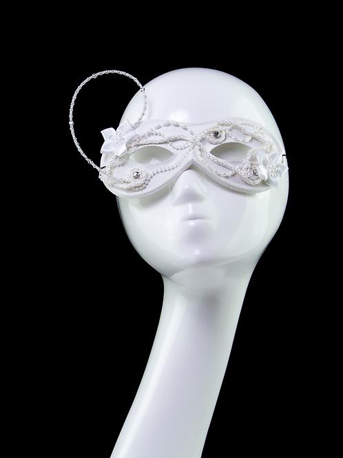 Virgin - White Beaded Mask