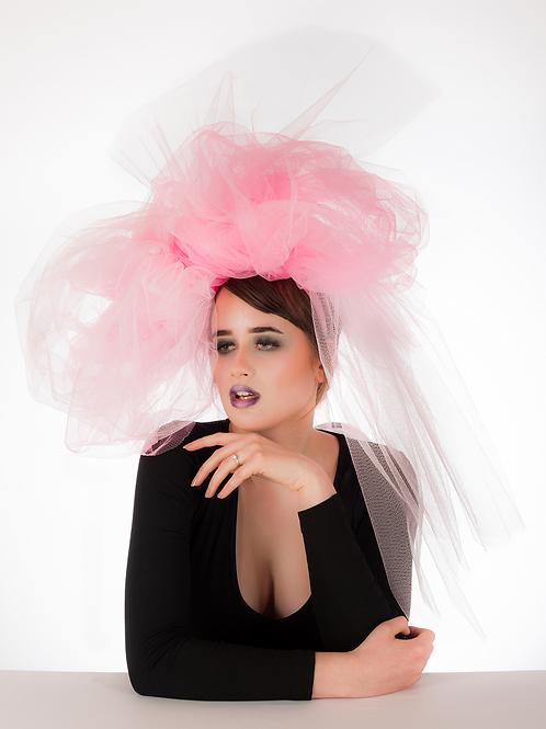 Pretty in Pink - Tulle Net Headdress
