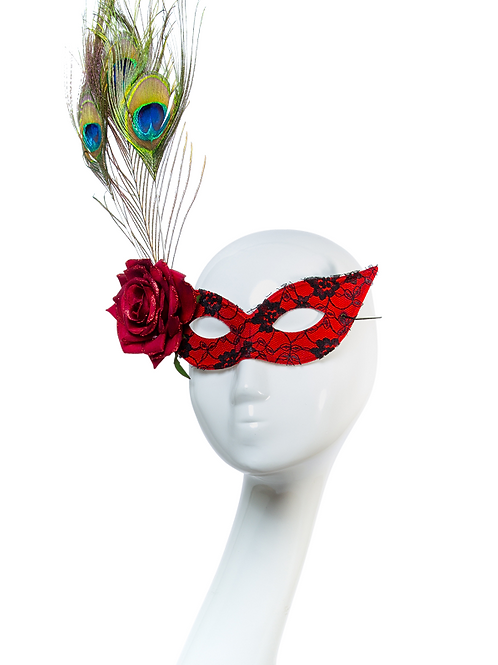 Lover's Rose - Red Lace Mask