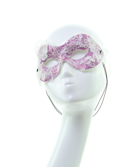 ENCHANTED - Glitter and Lace Masquerade Mask