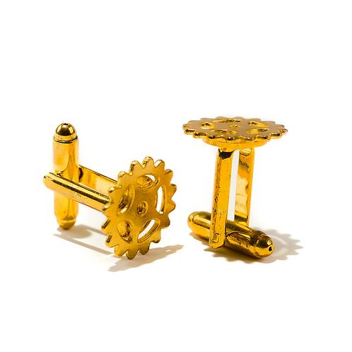 Gold Clockwork Cufflinks