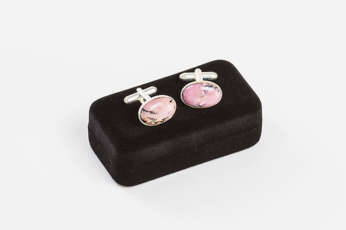 RHODONITE - Gemstone Cufflinks