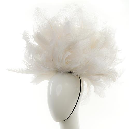 Seraphina - White Feather Headpiece