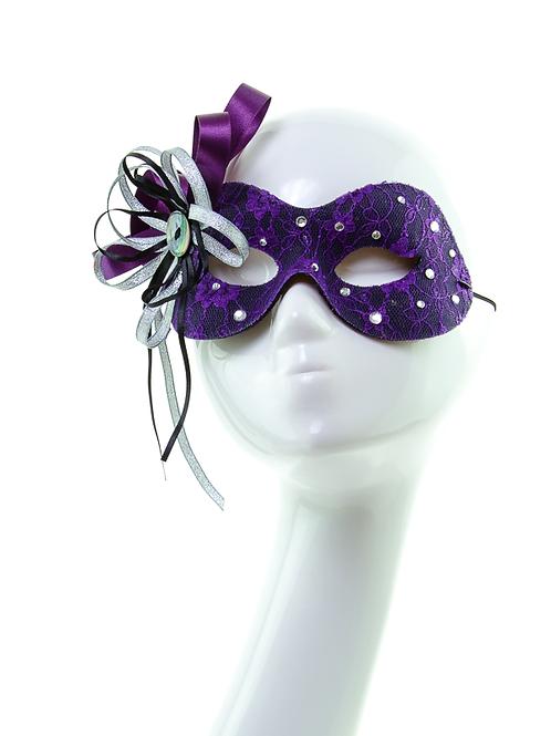 Moonshine - Black and Purple Lace Mask