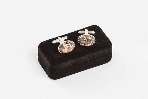 LEOPARD SKIN AGATE - Gemstone Cufflinks