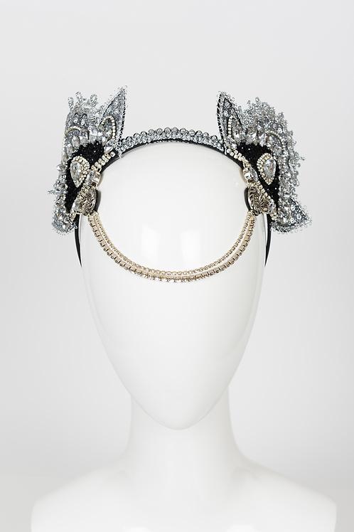 Nicole - Silver Burlesque Headband