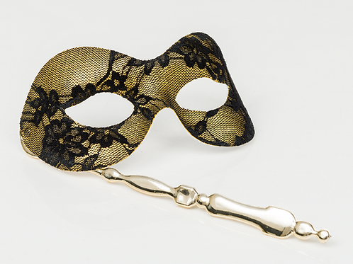 Lace Metallic Stick Mask
