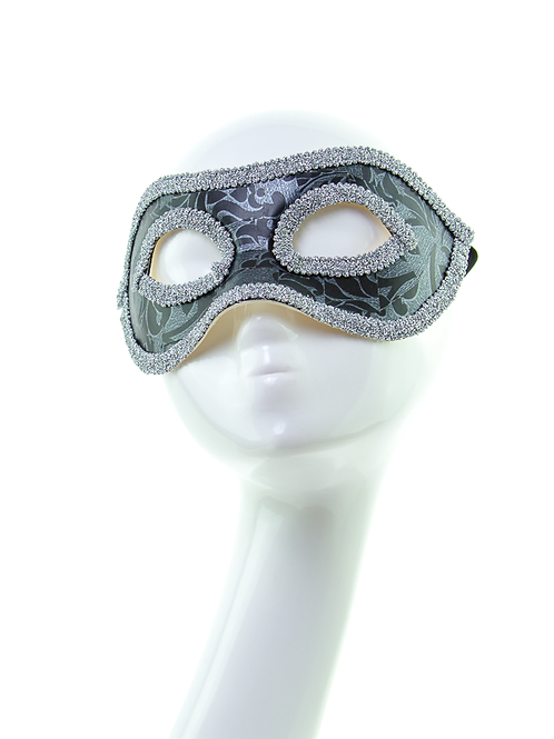 HIGHWAY MAN - Black and Silver Venetian Mask