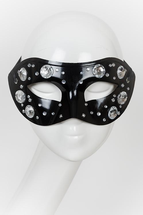 Gianni - Rhinestone Black Mask