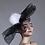 Thumbnail: Stella - Tulle Netted Fur Pompom Headpiece