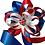Thumbnail: Britannia - Blue Glitter Mask