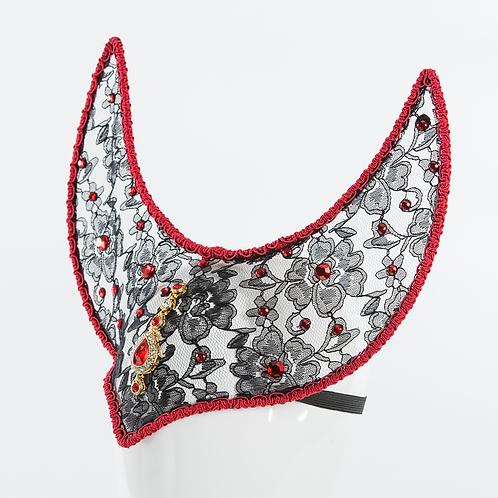 Matador - Black and Red Lace Headpiece