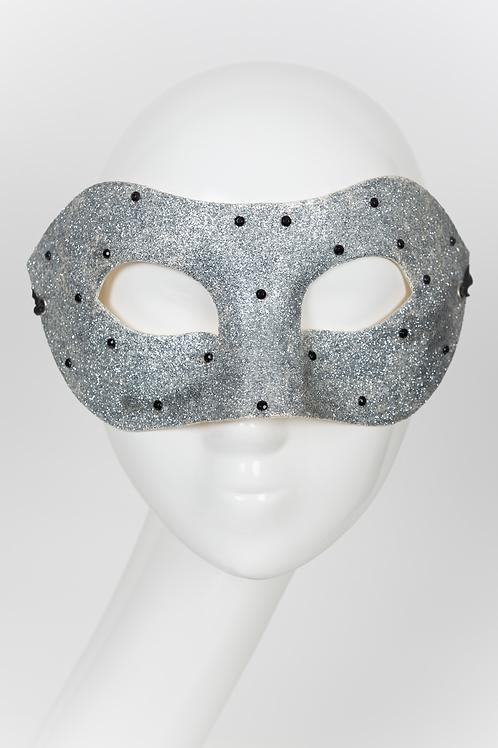 Donitari - Silver Glitter Mask