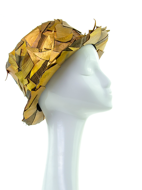 GOLDEN - Leather Trilby Hat