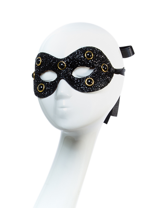 DOMINA - Black Glitter Mask
