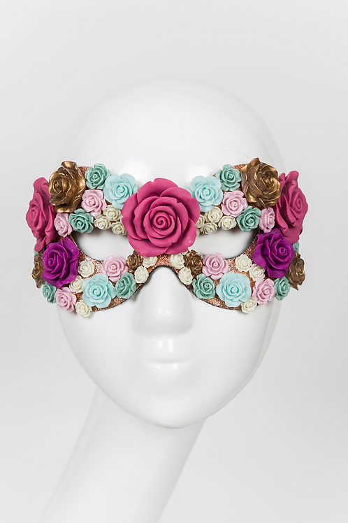 Marie - Resin Rose Mask