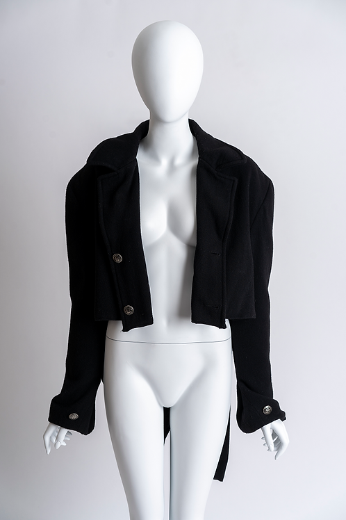 Black Crop Tailcoat Jacket