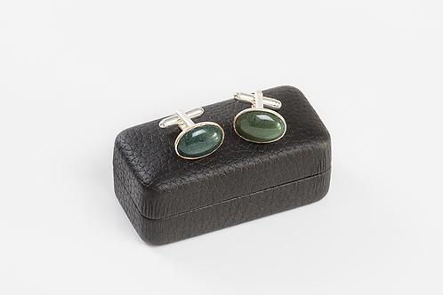 GREEN MOSS AGATE - Gemstone Cufflinks