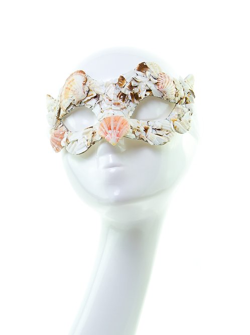 WATER NYMPH - Masquerade Seashell Mask