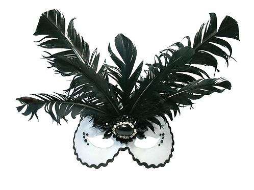 VAMPIRE BRIDE - Feather Masquerade Mask