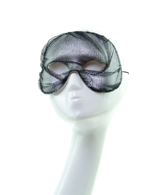 Secrecy - Silver Tulle Mask