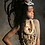 Thumbnail: Mganga - Tribal Mohawk Feather Skull  Headdress
