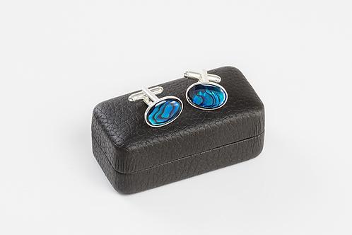 BLUE ABALONE - Shell Cufflinks