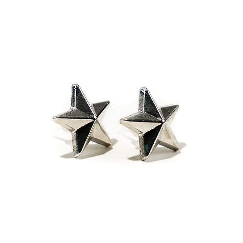 Silver/Gold Star Ear Studs