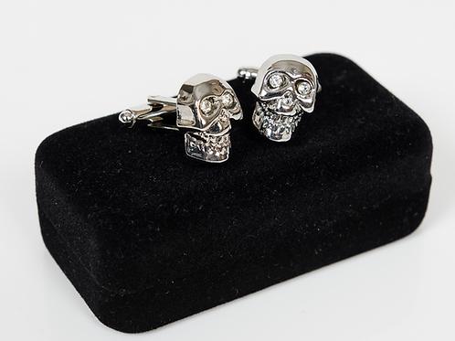 Silver Skull Swarovski Cufflinks
