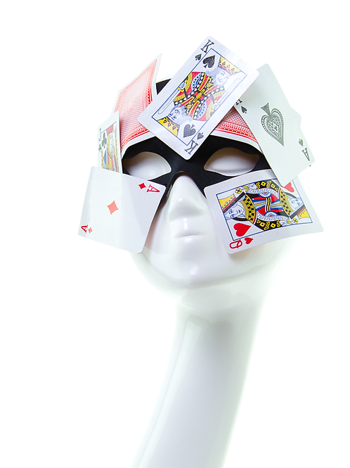 Poker Face - Magician Playing Card Mask