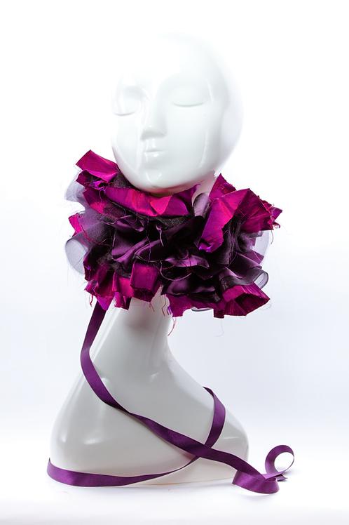Purple Rose - Luxury Neck Ruffle