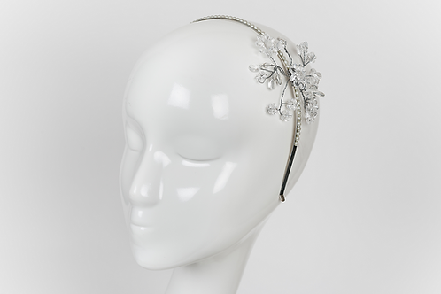 CHARLESTON FLOWER - Pearl and Rhinestone Headband