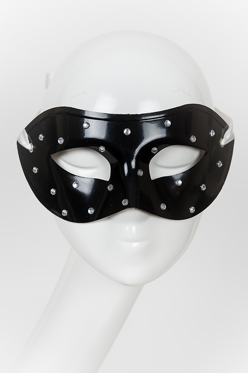 Castiel - Black Rhinestone Mask
