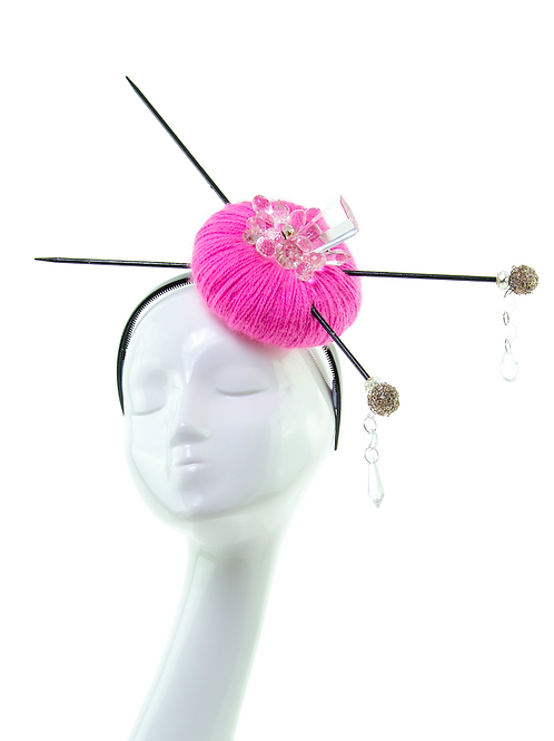 CRYSTAL PINK - Couture Headpiece
