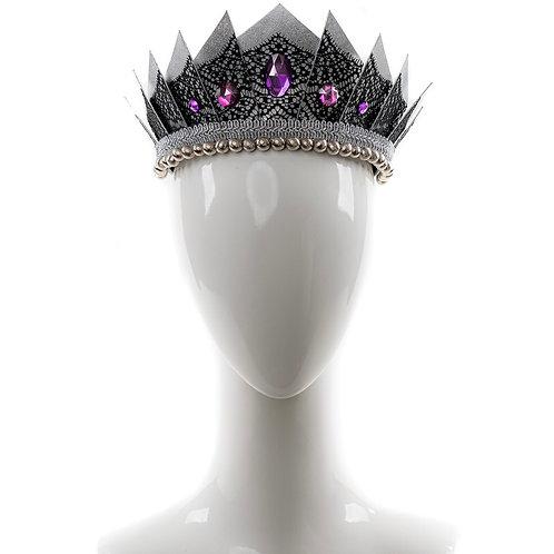 Clarissa - Lace Silver Deco Crown