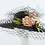 Thumbnail: Meryl - Floral Black Veiled Hat
