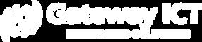 White logo with tagline on Transparent b