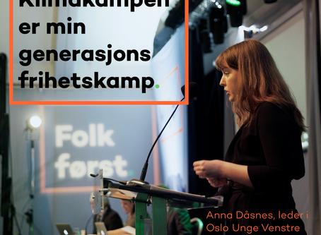 Annas innlegg til Venstres landsmøte