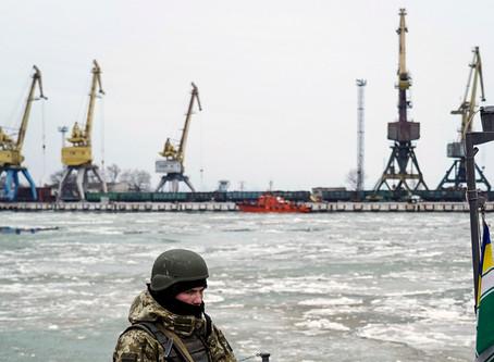Russland ut av Azovhavet