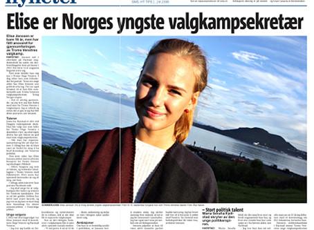 Elise er en av landets yngste valgkampsekretærer